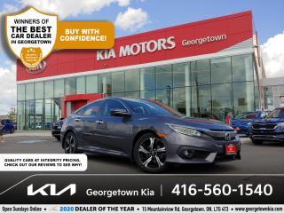 Used 2017 Honda Civic Sedan TOURING | LTHR | NAV | SUNROOF | BU CAM | 38K | BT for sale in Georgetown, ON