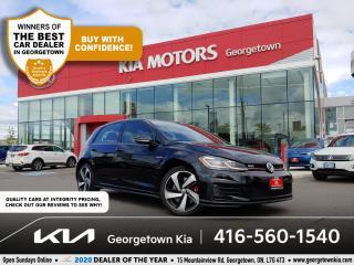Used 2018 Volkswagen Golf GTI Autobahn | NAV | POWR SUNROOF | BU CAM | HTD SEATS for sale in Georgetown, ON