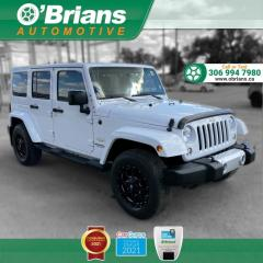 Used 2014 Jeep Wrangler Unlimited Sahara w/4WD, Leather, Navigation, Heated Seats, Cruise Control for sale in Saskatoon, SK