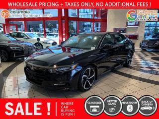 Used 2018 Honda Accord Sedan Sport - Sunroof / Leather / No Dealer Fees for sale in Richmond, BC