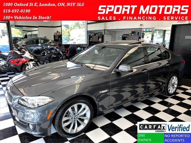 2016 BMW 5 Series 528i xDrive+GPS+Roof+Sensors+Xenons+CLEAN CARFAX