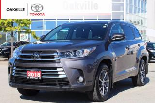 Used 2018 Toyota Highlander XLE AWD 8-Passenger with Leather Seats and Low Kilometers for sale in Oakville, ON