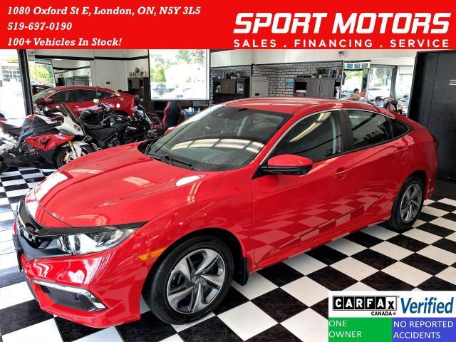 2019 Honda Civic LX+LaneKeep+Adaptive Cruise+ApplePlay+CLEAN CARFAX