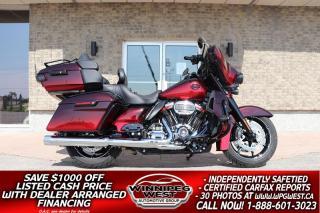 Used 2018 Harley-Davidson FLHTKSE CVO Ultra Limited Screamin Eagle 117 CU INCH M8 *STUNNING LIMITED PAINT SET** 7K KM for sale in Headingley, MB