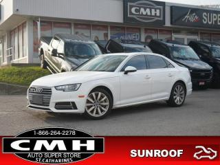 Used 2018 Audi A4 2.0T PREMIUM for sale in St. Catharines, ON