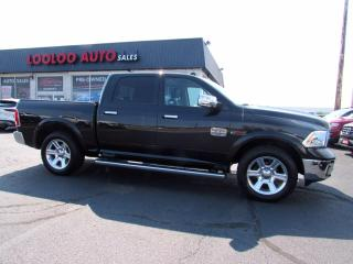 Used 2015 RAM 1500 Longhorn Crew Cab 4WD Eco Diesel Navigation Certified for sale in Milton, ON