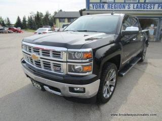 Used 2015 Chevrolet Silverado 1500 LOADED LTZ-Z71-EDITION 5 PASSENGER 5.3L - V8.. 4X4.. CREW-CAB.. SHORTY.. NAVIGATION.. POWER PEDALS.. LEATHER.. HEATED/AC SEATS.. BACK-UP CAMERA.. for sale in Bradford, ON