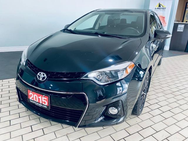 2015 Toyota Corolla S LEATHER SUNROOD ALLOY NAVI CERTIFIED $10499
