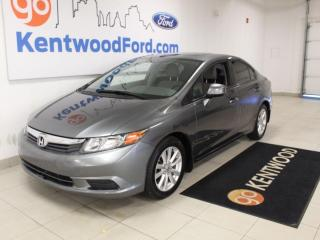 Used 2012 Honda Civic Sdn EX   Sunroof   Auto   One Owner   Low KMS for sale in Edmonton, AB
