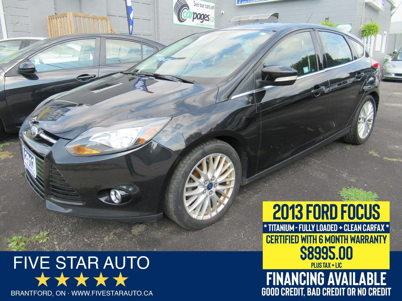 2013 Ford Focus Titanium *Clean Carfax* Certified + 6 Mth Warranty