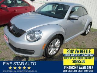 Used 2012 Volkswagen Beetle Premiere - Certified w/ 6 Month Warranty for sale in Brantford, ON