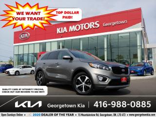 Used 2018 Kia Sorento EX + V6 | 1 OWNR | CLN CRFX | 7 PASS | PANO ROOF for sale in Georgetown, ON