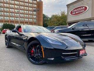 Used 2019 Chevrolet Corvette CLEAN CARFAX | RED INT | LOW KMS | Z51 PKG | 7 SP MANUAL | for sale in Scarborough, ON