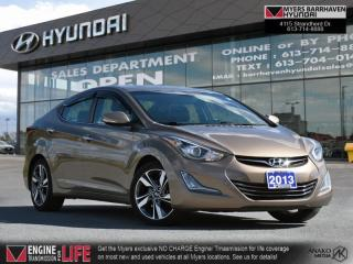 Used 2016 Hyundai Elantra Limited  - Navigation -  Sunroof - $88 B/W for sale in Nepean, ON