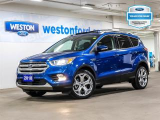 Used 2018 Ford Escape Titanium+CAMERA+REMOTE START+NAVIGATION+PANORAMIC ROOF for sale in Toronto, ON