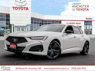 Used 2021 Acura TLX A-Spec A-SPEC | RED LEATHER INTERIOR | LOW KMS for sale in Ancaster, ON