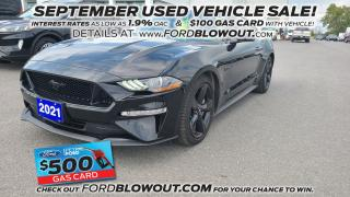 Used 2021 Ford Mustang GT PREMIUM - MANUAL, BLACK PKG, LOW KMs !!! for sale in Kingston, ON