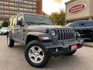 Used 2019 Jeep Wrangler Unlimited HARDTOP + SOFT | UNLIMITED SPORT | CAM | 4 X 4  V6 | for sale in Scarborough, ON