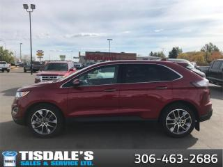 Used 2016 Ford Edge Titanium  - Leather Seats -  Bluetooth for sale in Kindersley, SK