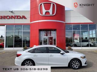 New 2022 Honda Civic SEDAN LX for sale in Moose Jaw, SK