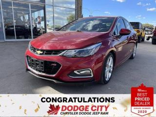 Used 2017 Chevrolet Cruze Premier- Htd. Seats,Remote Start,Nav,Sunroof for sale in Saskatoon, SK