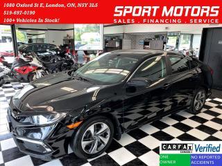 Used 2020 Honda Civic LX+LaneKeep+Adaptive Cruise+ApplePlay+CLEAN CARFAX for sale in London, ON