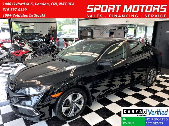 2020 Honda Civic LX+LaneKeep+Adaptive Cruise+ApplePlay+CLEAN CARFAX