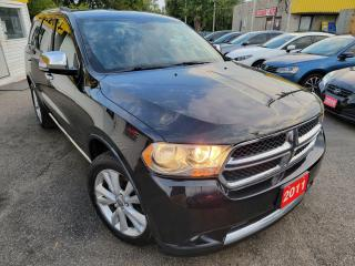 Used 2011 Dodge Durango Crew Plus/AWD/NAVI/CAMERA/DVD/7PASS/LOADED/ALLOYS for sale in Scarborough, ON