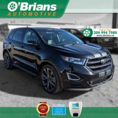 Used 2016 Ford Edge Sport w/AWD, Command Start, Backup Camera, Leather, Navigation for sale in Saskatoon, SK