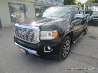 Used 2018 GMC Canyon LOADED DENALI-MODEL 5 PASSENGER 2.8L - DURAMAX.. 4X4.. CREW-CAB.. SHORTY.. TRAILER BRAKE.. NAVIGATION.. LEATHER.. HEATED/AC SEATS.. BACK-UP CAMERA.. for sale in Bradford, ON