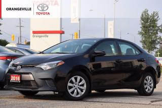 Used 2016 Toyota Corolla LE, HEATED SEATS, BACK-UP CAMERA, BLUETOOTH, CRUISE CONTROL, KEYLESS ENTRY for sale in Orangeville, ON