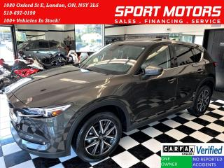 Used 2018 Mazda CX-5 GT AWD+Camera+GPS+Roof+BOSE Sound+CLEAN CARFAX for sale in London, ON
