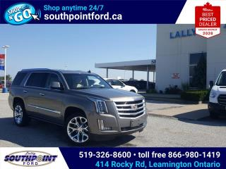 Used 2017 Cadillac Escalade Premium Luxury NAV|HTD & COOLED SEATS|SUNROOF|DVD|HTD STEERING|REMOTE START| 7 PASSENGER for sale in Leamington, ON