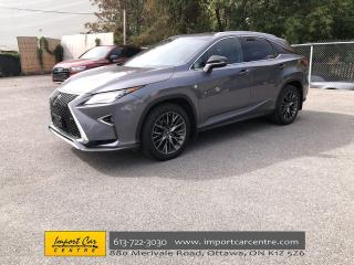 Used 2018 Lexus RX 350 F-SPORT 2  LEATHER  NAVI  BLIS  PANO ROOF for sale in Ottawa, ON