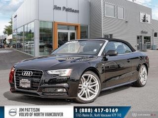 Used 2016 Audi A5 Cabriolet 2.0T Technik (Tiptronic) - LOCAL - LOW MILEAGE for sale in North Vancouver, BC