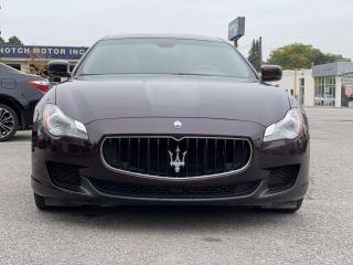 Used 2015 Maserati Quattroporte LOADED AWD MASERATI QUATTROPORTE SQ4 BRAND NEW BRAKES/TIRES for sale in Brampton, ON