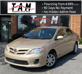 Used 2012 Toyota Corolla S Beige Interior Heated Seats Air Conditioning Low Km! for sale in North York, ON