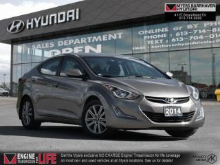 Used 2014 Hyundai Elantra L  - Sunroof -  Heated Seats - $92 B/W for sale in Nepean, ON