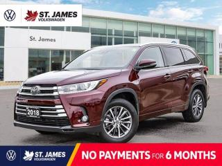 Used 2018 Toyota Highlander XLE, PUSH TO START, POWER SUNROOF, BACKUP CAMERA for sale in Winnipeg, MB