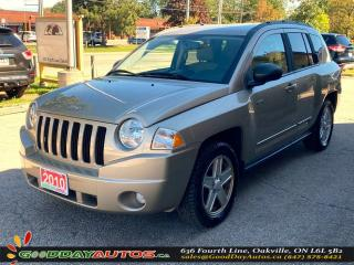 Used 2010 Jeep Compass North ONE OWNER LOW KM NO ACCIDENT 4WD CERTIFIED for sale in Oakville, ON