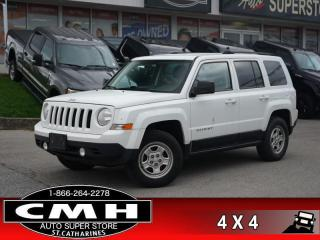 Used 2015 Jeep Patriot Sport  4X4 CRUISE-CTRL PWR-GROUP A/C for sale in St. Catharines, ON