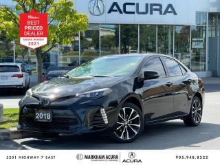 Used 2018 Toyota Corolla XSE CVT Sedan for sale in Markham, ON