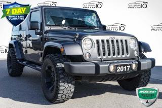 Used 2017 Jeep Wrangler Unlimited Sahara LOCAL TRADE  | 4X4 for sale in Innisfil, ON