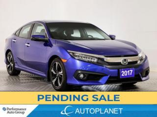 Used 2017 Honda Civic Touring, Navi, Sunroof, Heated Seats, Android Auto for sale in Brampton, ON