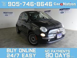 Used 2013 Fiat 500 LOUNGE | CONVERITBLE | LEATHER | BEATS AUDIO for sale in Brantford, ON