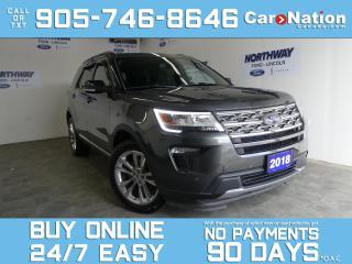 Used 2018 Ford Explorer XLT |V6 |4X4 |SAFE & SMART PKG |ROOF |NAV| LEATHER for sale in Brantford, ON