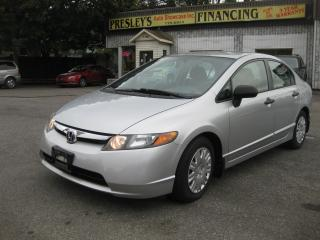 Used 2006 Honda Civic DX Auto AC FWD 4cyl LOW KM PL PM PW for sale in Ottawa, ON