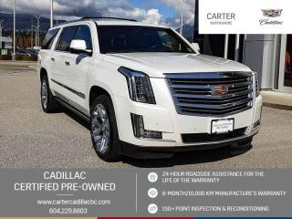Used 2016 Cadillac Escalade ESV Platinum SIDE STEPS - NAVIGATION - MOONROOF for sale in North Vancouver, BC