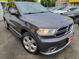 Used 2015 Dodge Durango Limited/NAVI/CAMERA/7PASS/LEATHER/ROOF/LOADED/ALLO for sale in Scarborough, ON