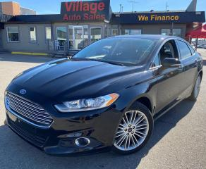 Used 2016 Ford Fusion NAVIGATION, SUNROOF, AWD, BACKUP CAMERA, HEATED SEATS, HEATED STEERING WHEEL, LEATHER INTERIOR for sale in Saskatoon, SK